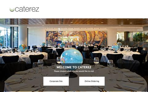 Screenshot of Home Page caterez.com.au - Caterez - captured Oct. 2, 2014