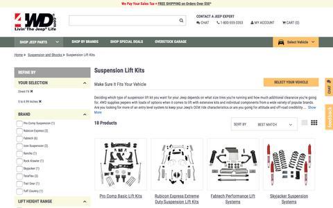 Suspension Lift Kits | 4wd.com