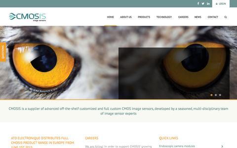 Screenshot of Home Page cmosis.com - CMOSIS - CMOS Image Sensors - captured July 3, 2015