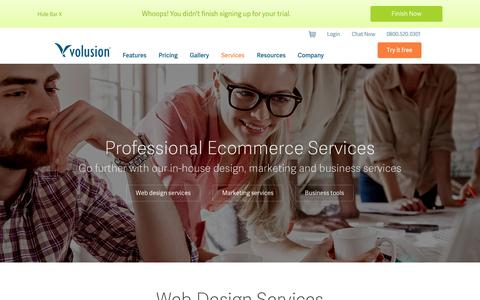 Screenshot of Services Page volusion.co.uk - Ecommerce Services by Volusion Ecommerce Solutions - captured Oct. 30, 2014
