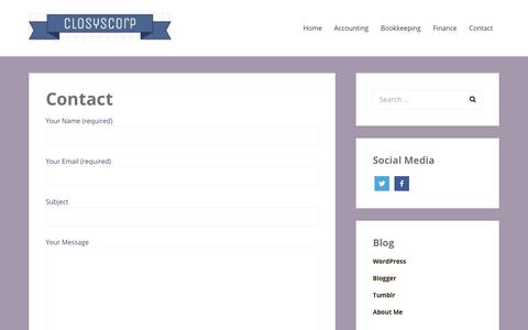 Screenshot of Contact Page closyscorp.com - Contact – Closy Corporation - captured Nov. 1, 2017