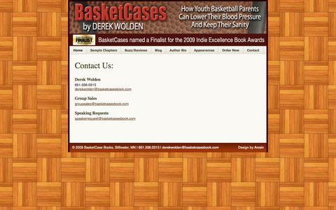 Screenshot of Contact Page basketcasesbook.com - BasketCases + Contact Us - captured Oct. 5, 2014