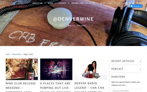 Screenshot of Blog bonacquistiwine.com - Denver Wine - Bonacquisti Wine Company - captured Oct. 10, 2017