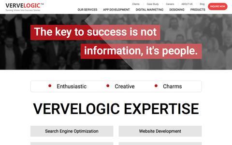 Screenshot of About Page vervelogic.com - VerveLogic   About Us - captured June 9, 2018