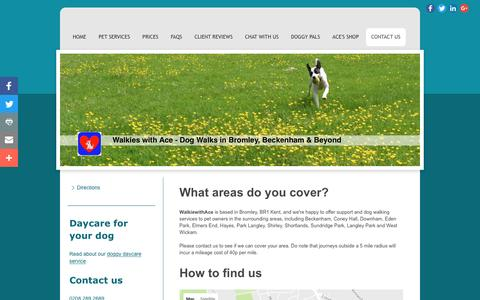 Screenshot of Maps & Directions Page dogwalksbromley.co.uk - Find your nearest dog walker in Bromley, Beckenham and surrounding areas. - captured Dec. 2, 2016