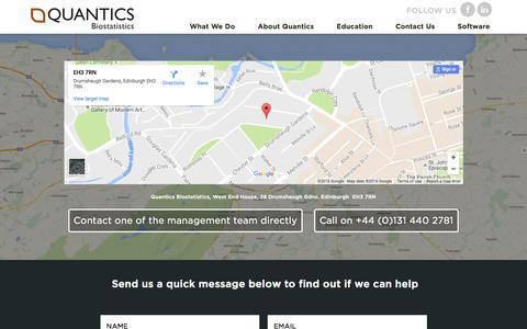 Screenshot of Contact Page quantics.co.uk - » Contact Us - captured Nov. 11, 2016