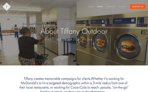 Screenshot of About Page tiffanyoutdoor.net - About Tiffany Outdoor - Tiffany Outdoor Inc. - captured July 10, 2018