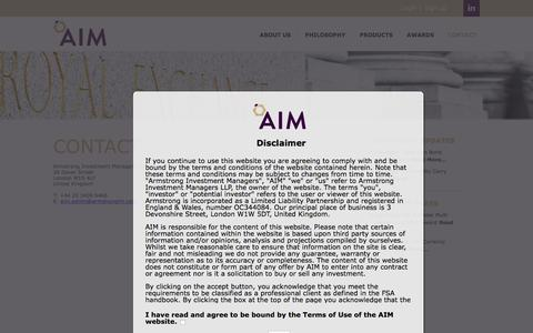 Screenshot of Contact Page armstrongim.com - Contact - Armstrong Investment Managers - captured Feb. 6, 2016