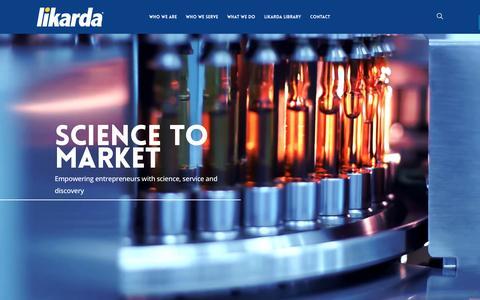 Screenshot of Home Page likarda.com - Home | Likarda - captured Nov. 8, 2016