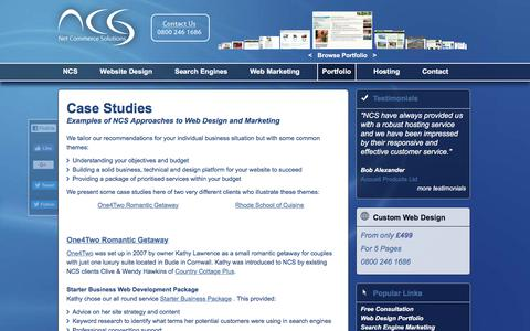 Screenshot of Case Studies Page net-commerce-solutions.co.uk - Case Studies from Web Marketing Strategy Consultants on UK and International Markets - captured Oct. 26, 2017