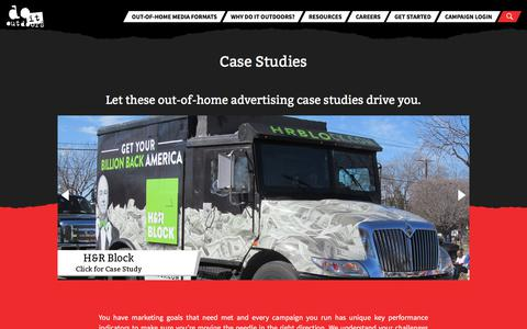 Screenshot of Case Studies Page doitoutdoors.com - Out-of-home advertising case studies   do it outdoors - captured Aug. 7, 2018