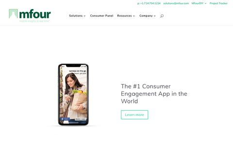 MFour Mobile Market Research | Mobile Research Solutions & Technology