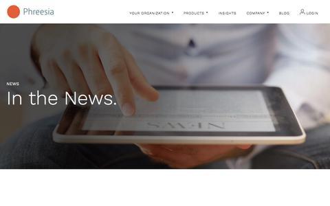 Screenshot of Press Page phreesia.com - News, Press Releases and Announcement | Phreesia News - captured June 5, 2017