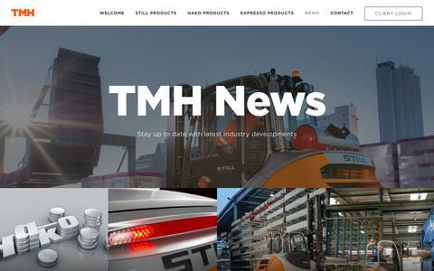 Screenshot of Press Page tmh.ie captured Nov. 6, 2017