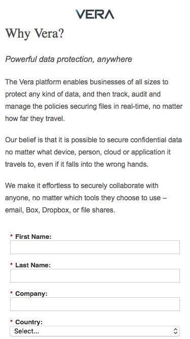 Tech White Paper: Secure Any Data, Anywhere | Vera