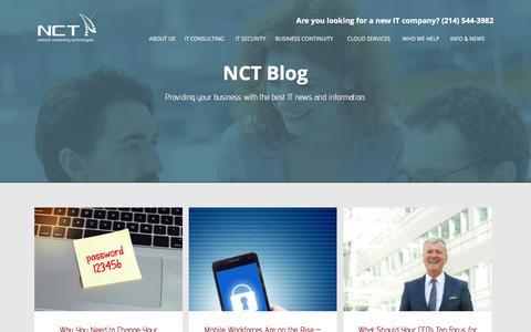 Screenshot of Blog nctnet.net - NCT Blog Archives - NCT - captured Feb. 8, 2016