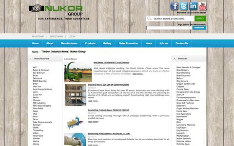 Screenshot of Press Page nukor.co.za - Timber Industry News  Nukor Group - captured Sept. 19, 2014