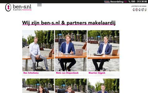 Screenshot of Team Page ben-s.nl - Team ben-s.nl | NVM Makelaar | Beoordeeld met 9.1 - captured Dec. 19, 2018