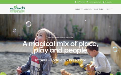 Screenshot of Home Page newshoots.co.nz - New Shoots Children's Centre - captured Oct. 31, 2018