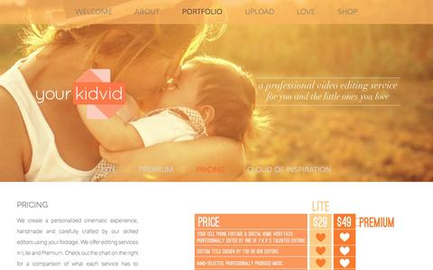 Screenshot of Pricing Page yourkidvid.com - PRICING — Yourkidvid - captured Oct. 9, 2014