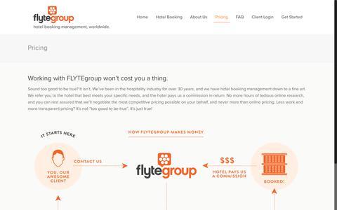 Screenshot of Pricing Page flytegroup.com - Pricing - FLYTE Group - captured June 5, 2017