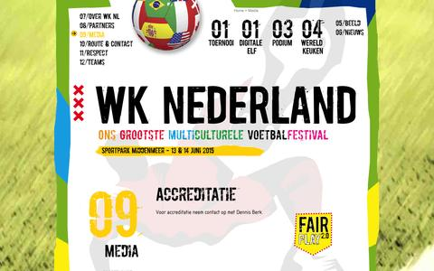 Screenshot of Press Page wknederland.nu - Media WK Nederland 2014: Help jij WK Nederland 2014 te verspreiden? - captured Oct. 7, 2014