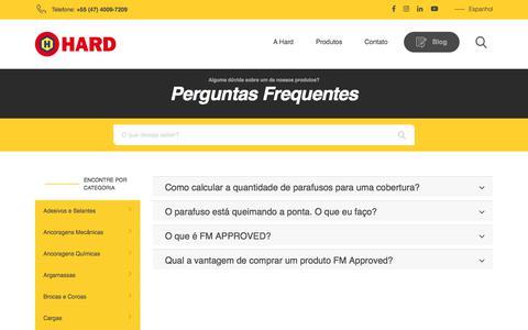 Screenshot of FAQ Page hard.com.br - Hard – Comércio de Fixadores e ResinasArquivos Todos - Hard - Comércio de Fixadores e Resinas - captured Sept. 25, 2018
