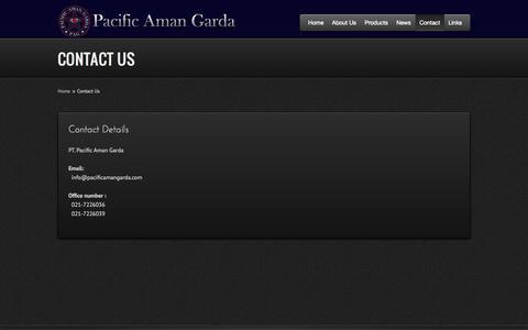 Screenshot of Contact Page pacificamangarda.com - Contact - Pacific Aman Garda Official Website - captured Oct. 1, 2014