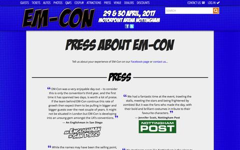 Screenshot of Press Page em-con.co.uk - Press - EM-Con - captured July 9, 2016