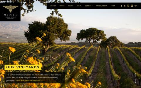 Screenshot of Home Page minerwines.com - Miner Family Wines | Oakville CA Winery - captured Dec. 11, 2015