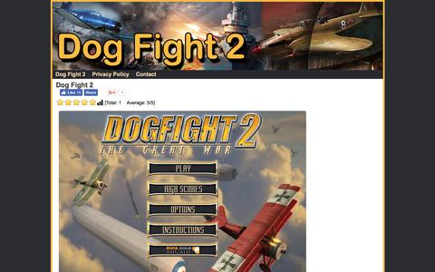 Screenshot of Home Page dogfight-2.com - Dog Fight 2 Game - captured Jan. 7, 2017