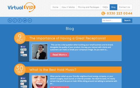 Screenshot of Blog virtualvip.co.uk - Small Business Guides & Resources Blog   Virtual VIP - captured Oct. 26, 2014