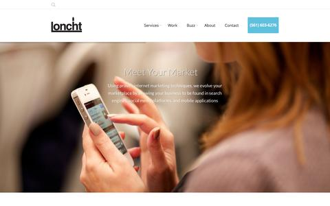 Screenshot of Home Page loncht.com - Loncht | Meet Your Market - captured July 25, 2015