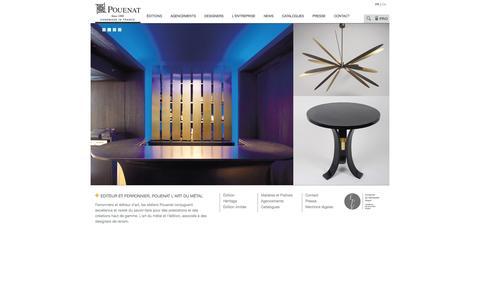 Screenshot of Home Page pouenat.fr - Ferronier d'art éditeur mobilier luminaires agencement POUENAT ferronnier - captured Oct. 3, 2014