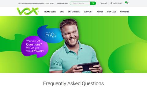 Screenshot of FAQ Page voxtelecom.co.za - FAQ | Vox Telecom | A Leading South African Telecoms Operator - captured Sept. 3, 2017