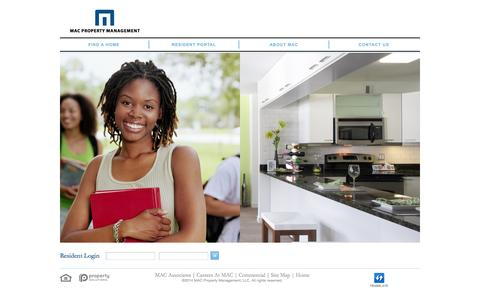Screenshot of Home Page macapartments.com - Apartments for Rent - Hyde Park, Chicago | MAC Property Management - captured Oct. 3, 2014