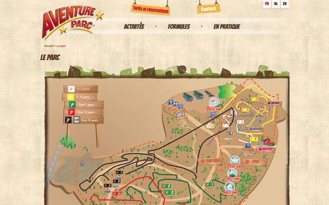 Screenshot of Maps & Directions Page aventureparc.be - Liste des formules - Aventure Parc - captured Oct. 9, 2017