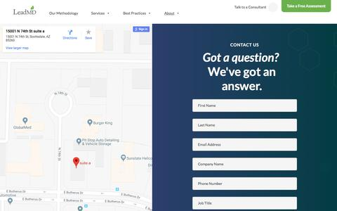 Screenshot of Contact Page leadmd.com - LeadMD | Contact Us | Schedule your FREE Revenue Assessment - captured July 4, 2018