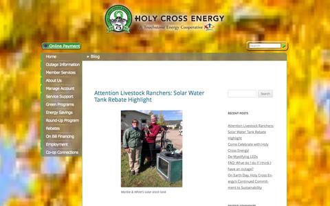 Screenshot of Blog holycross.com - Blog - captured Oct. 3, 2014
