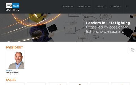 Screenshot of Team Page solais.com - Management Team / Company Profile / Leaders / PowerSecure Lighting / Solais Lighting - captured Oct. 22, 2017