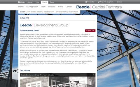 Screenshot of Jobs Page beediecapital.com - Beedie Capital  - Careers - captured Feb. 7, 2016