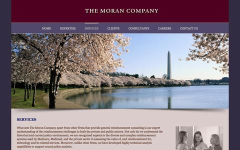 Screenshot of Services Page themorancompany.com - Services - The Moran Company - captured Jan. 11, 2016