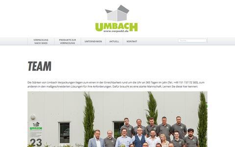 Screenshot of Team Page verpackt.de - Team | Umbach Verpackungen Aachen - captured Nov. 28, 2016