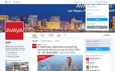 Avaya (@Avaya)   Twitter