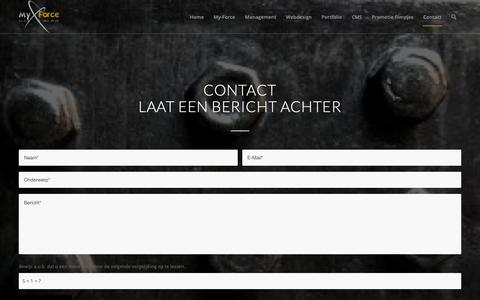 Screenshot of Contact Page my-force.nl - Contact - My-Force - captured Oct. 20, 2018