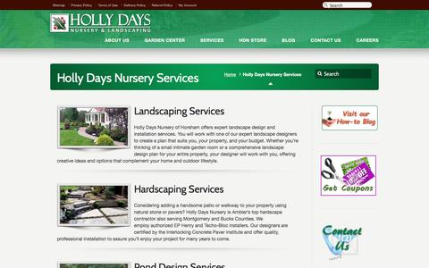 Screenshot of Services Page hollydaysnursery.com - Holly Days Nursery Services – Holly Days Nursery - captured May 21, 2017