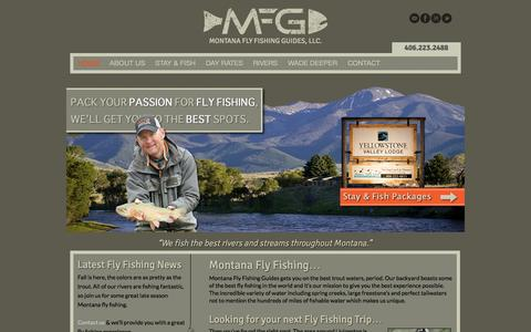 Screenshot of Home Page montanaflyfishingguides.com - Montana Fly Fishing Guides Montana Fly FishingMontana Fly Fishing Guides, LLC. - captured Oct. 6, 2014