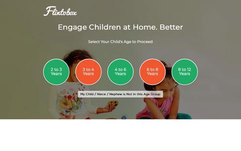 Screenshot of Home Page flintobox.com - Educational Subscription Activity Boxes for Kids | Flintobox India - captured Dec. 7, 2018
