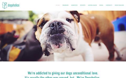 Screenshot of Home Page dog-a-holics.com - Dog-a-holics - captured Nov. 3, 2015