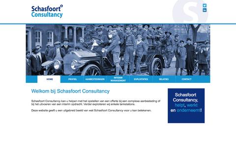 Screenshot of Home Page schasfoortconsultancy.nl - Schasfoort Consultancy - captured Feb. 4, 2016